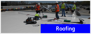 Workers on Roof - Roofing Services